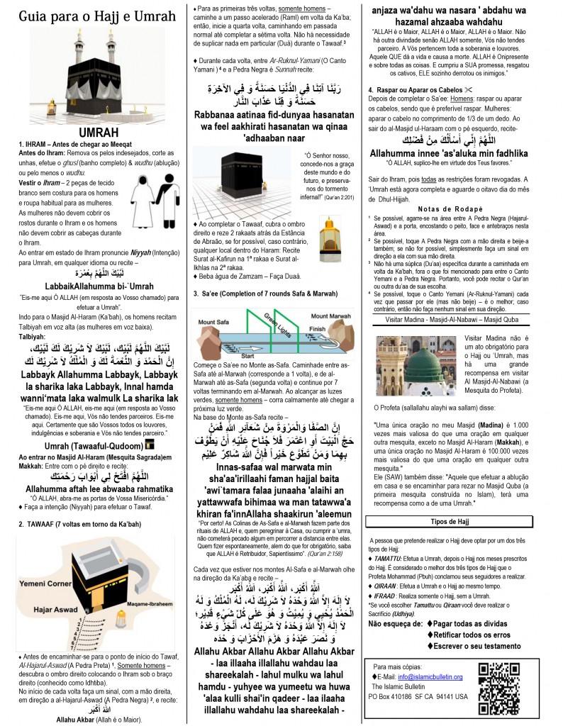 Guia para o Hajj e Umrah free gratis hajj in Portuguese